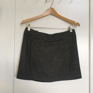 Club Monaco wool polka dot mini skirt